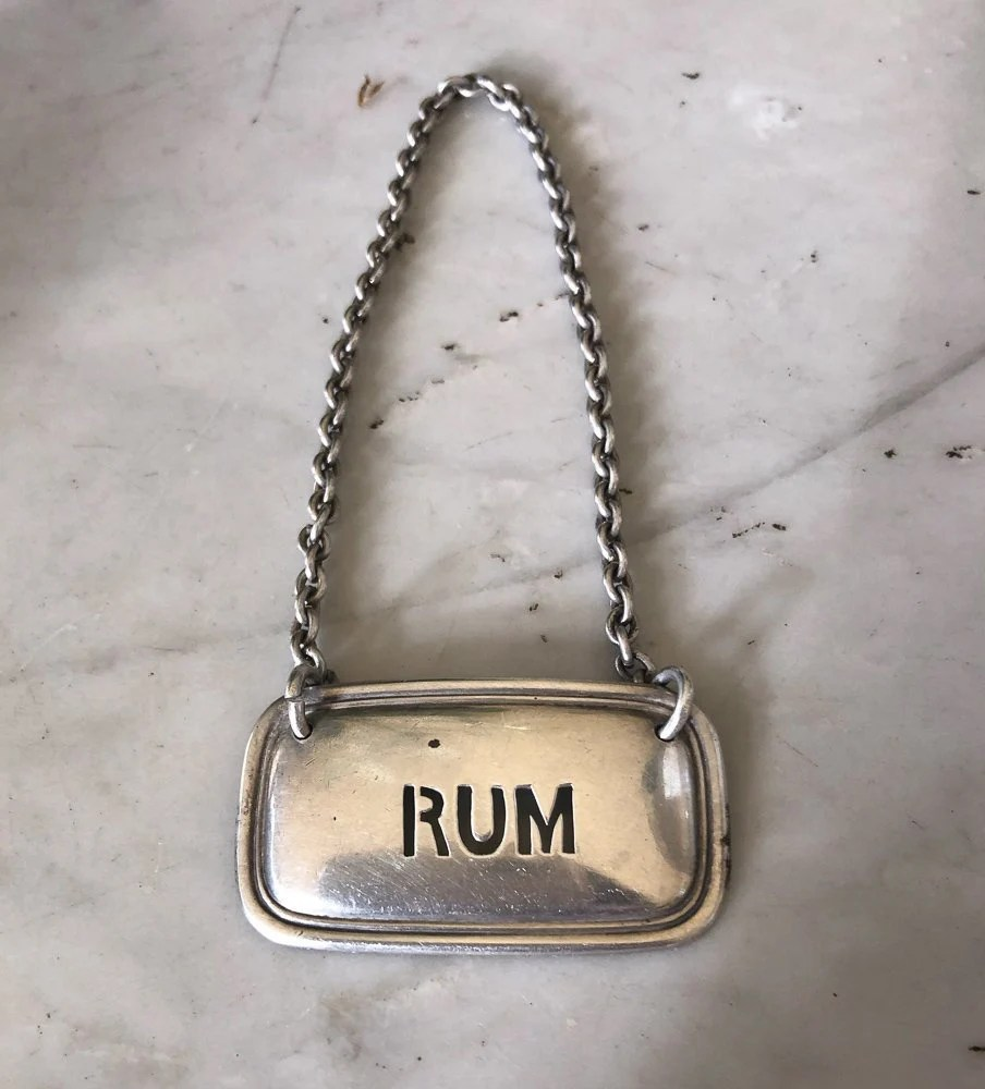Apothekerflaschen Kaufen Antique Tiffany Co Sterling Silver Rum Liquor Decanter Tag