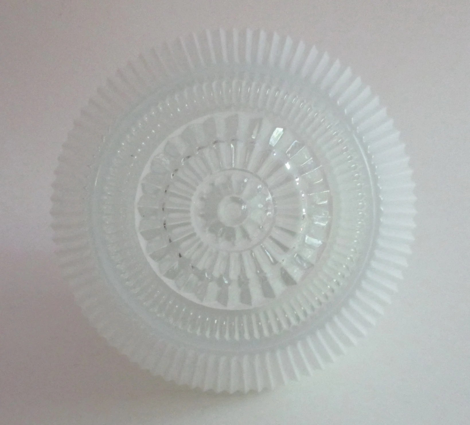 Ceiling Light Covers Vintage Glass Ceiling Light Cover Ribbed White Glass Shade 2 In Opening 6 In Top To Bottom Approx 6 In Dia At Widest