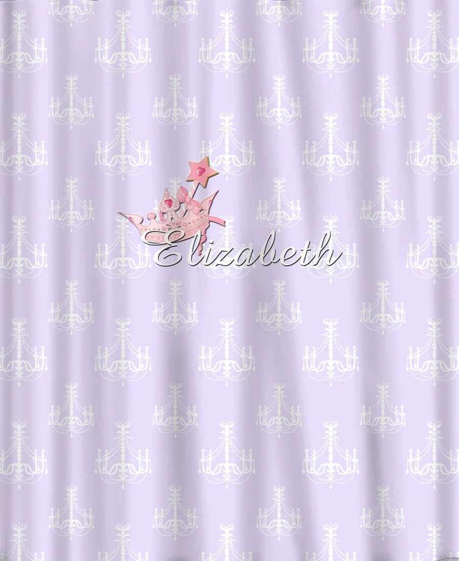 Lavender Shower Curtains Custom Chandelier And Tiara Shower Curtain Lavender White And Pink Any Colors Standard And Extra Long