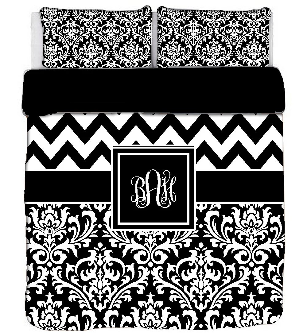 Damask Duvet Custom Personalized Chevron Damask Duvet Cover Or Comforter Available Tw Twxl F Queen King Size Choose From Bedding Swatch Colors