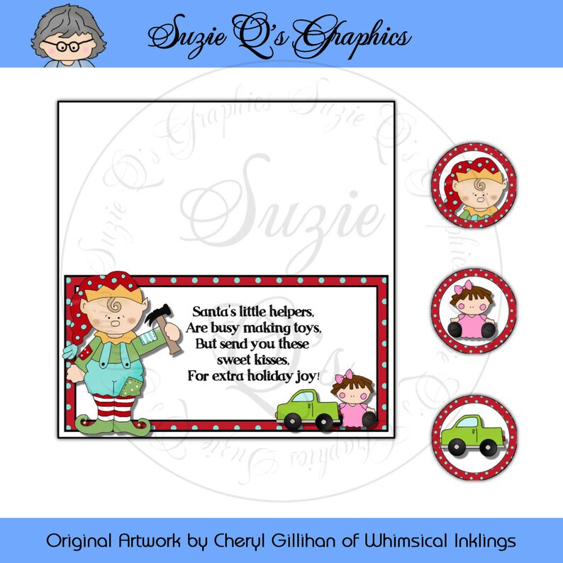 Elf Kisses Topper and kiss labels Digital Printable Etsy