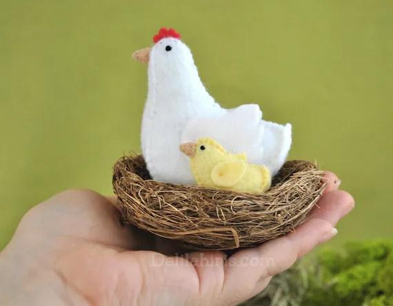 Felt Animal Pattern Printable PDF Felt Chicken Barnyard Etsy