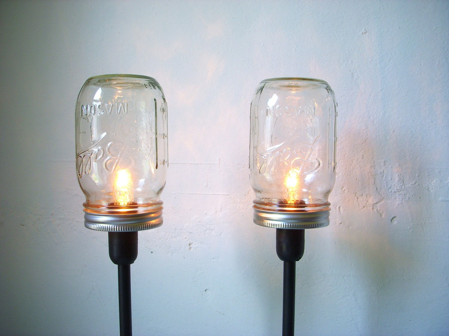 Lighting Fixtures 2 Mason Jar Table Lamps Upcycled Lighting Fixtures Mason Jar Lights Industrial Modern Contemporary Home Decor Bootsngus Lamp Design