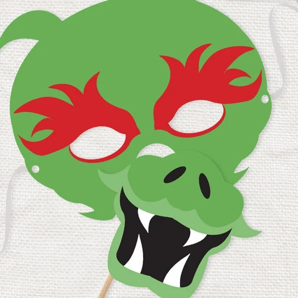 DIY party costume mask green dragon template printable Etsy