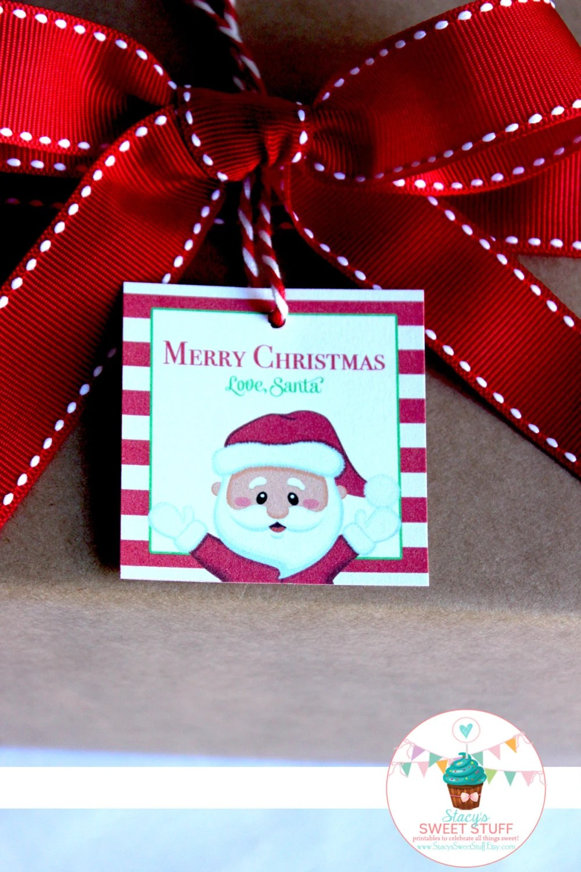 Santa Gift Tag, Love Santa, Christmas Gift Tag, Printable Gift Tag