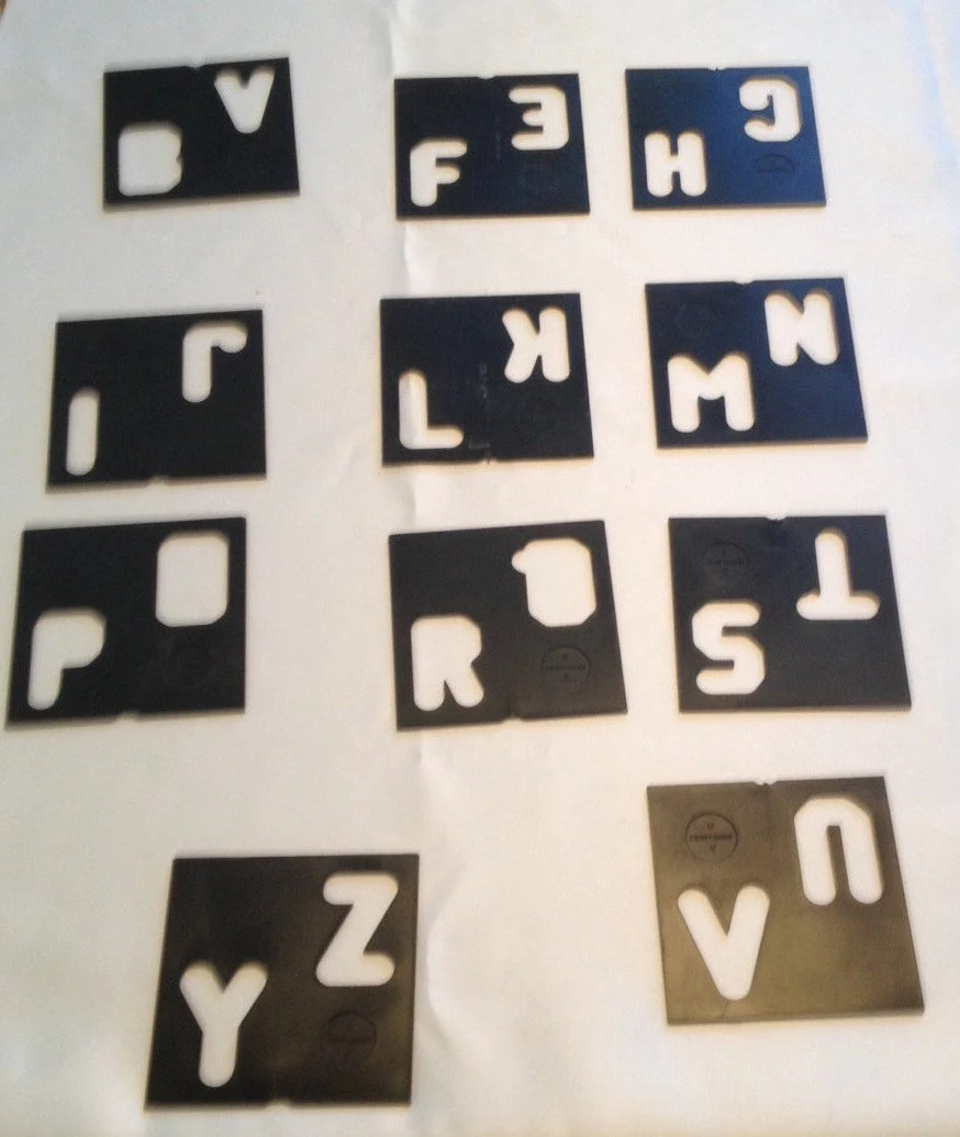Vintage Letter and Number Stencil Templates Etsy