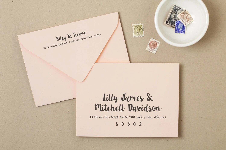 Printable Wedding Envelope Template INSTANT DOWNLOAD Etsy