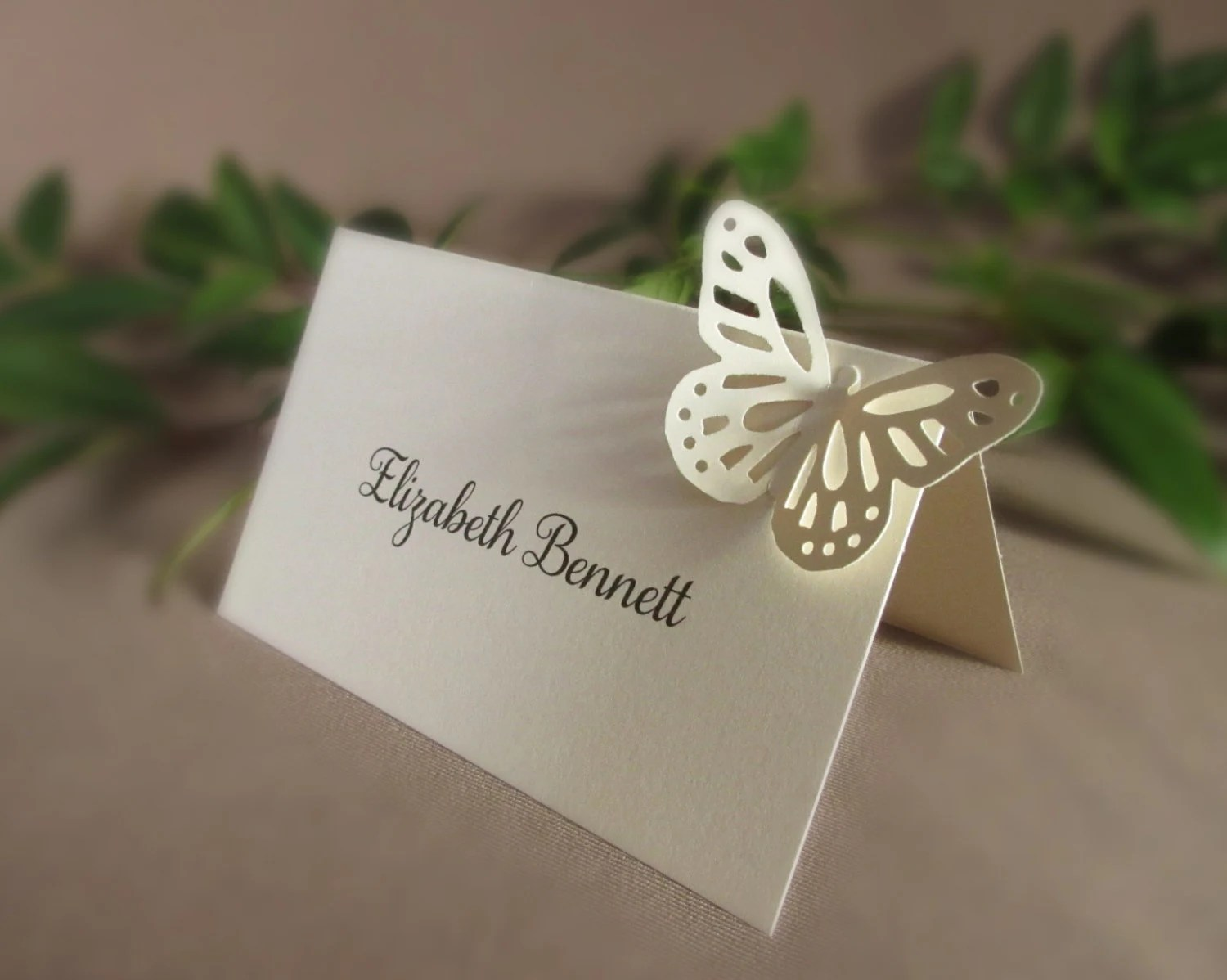 Blank Butterfly Place Cards/ Wedding Tent Style 3D Escort Etsy