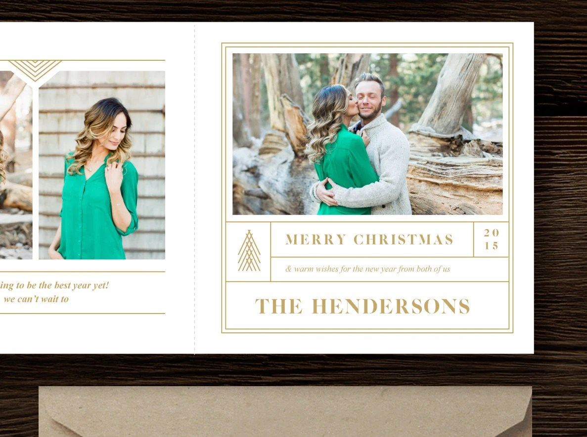 Photography Templates - INSTANT DOWNLOAD! Christmas Card Template