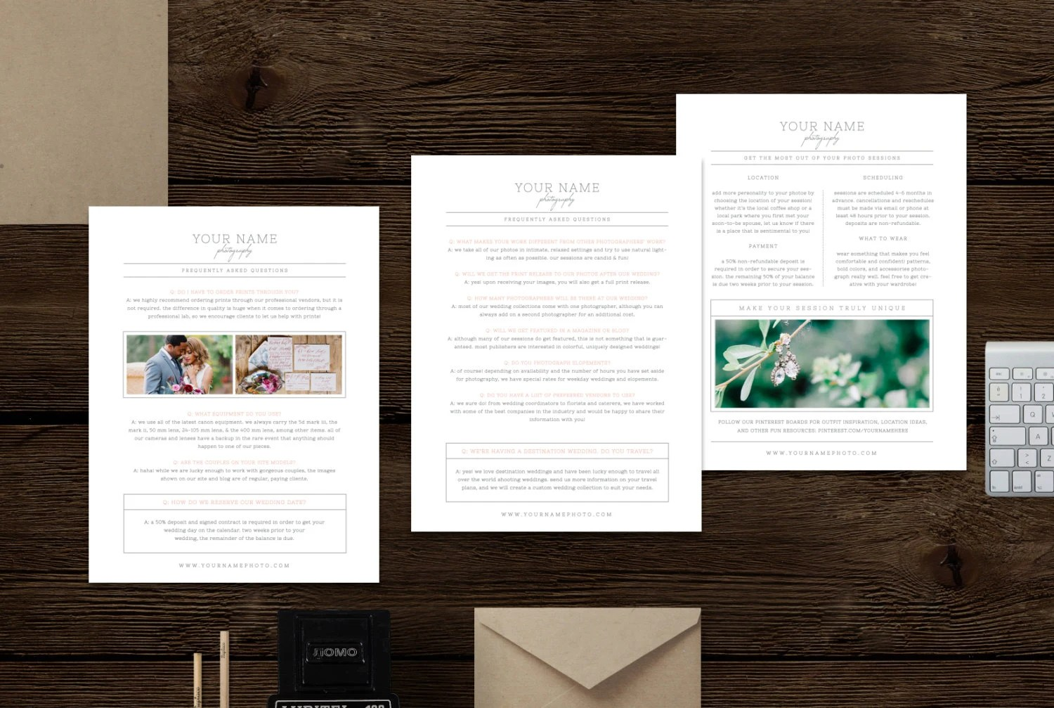 What to Wear  FAQ Template for Wedding Photographers Etsy