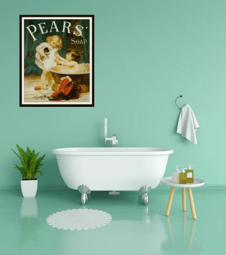 Printable Vintage Ephemera Pear\u0027s Soap Ad Art Print Etsy