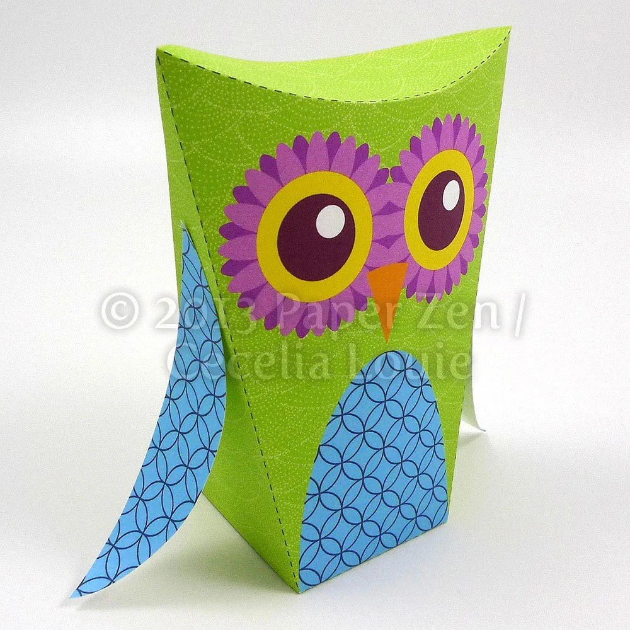 Printable Template Owl Box towelbars