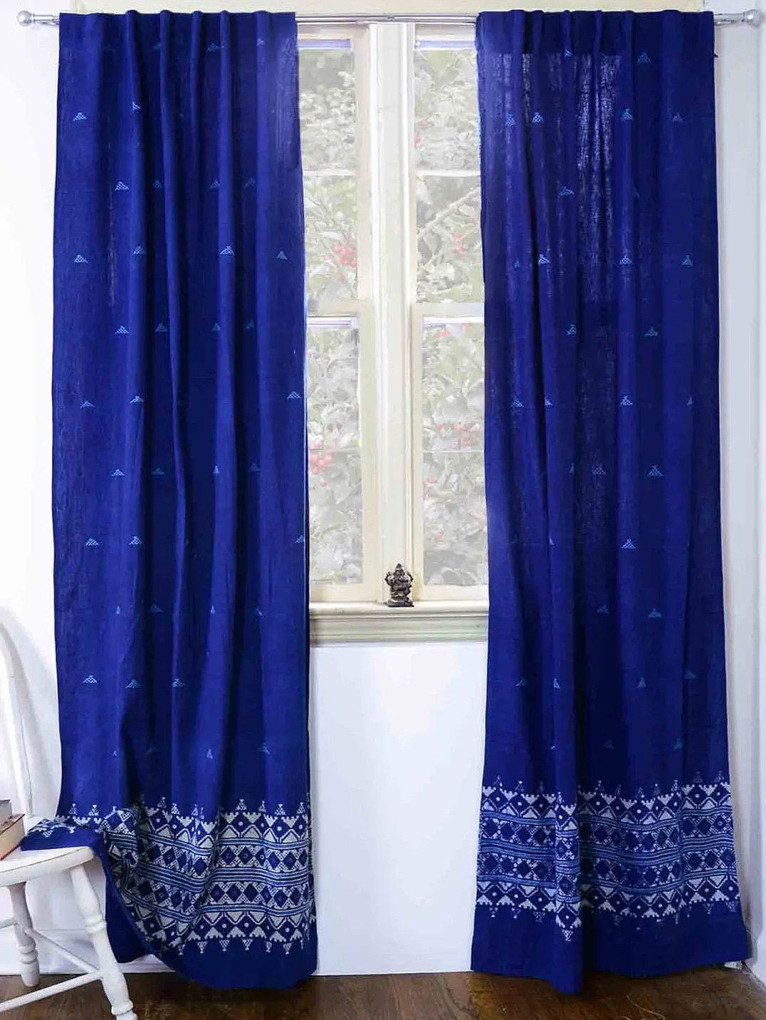 Bedroom Curtains Sale Indigo Curtains Sample Sale Window Curtain Indigo Blue Bedroom One Panel 40