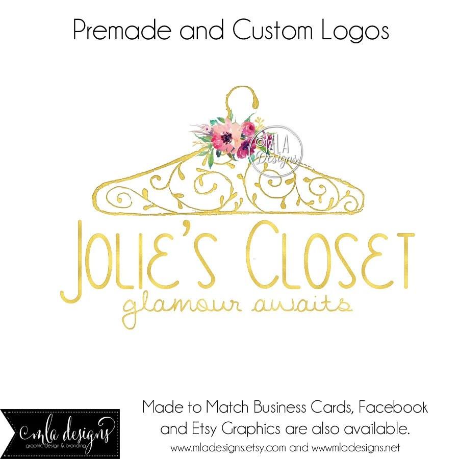 Clothing Logo Gold Logo Boutique Logo Premade Logos Etsy
