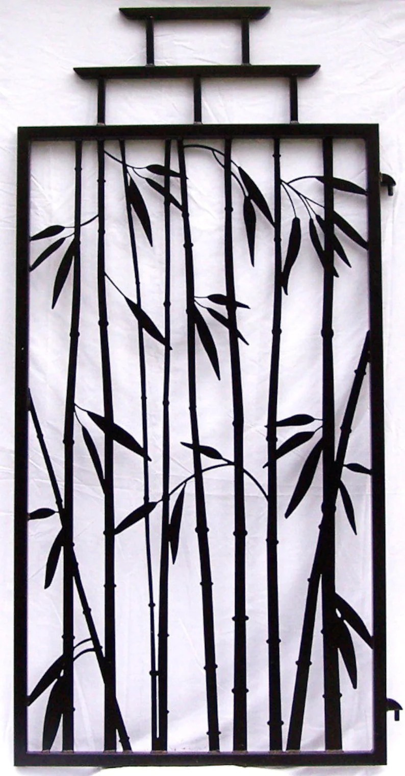 Bamboo Fence Canada Steel Bamboo Fence Gate Asian Temple Style 6 Tall Wrought Iron