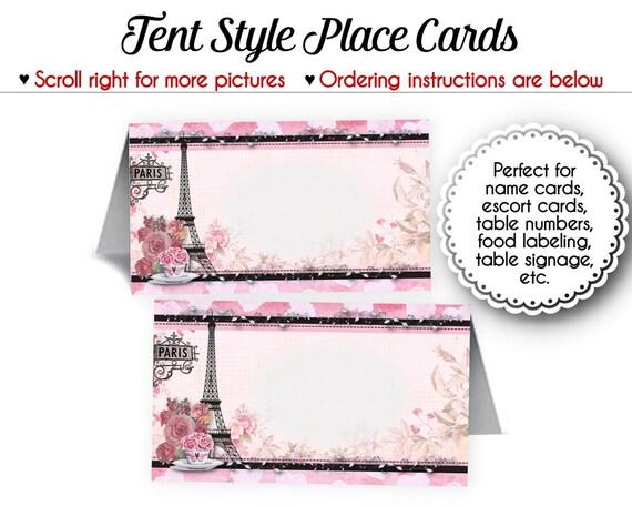 tent style place cards - Gurekubkireklamowe