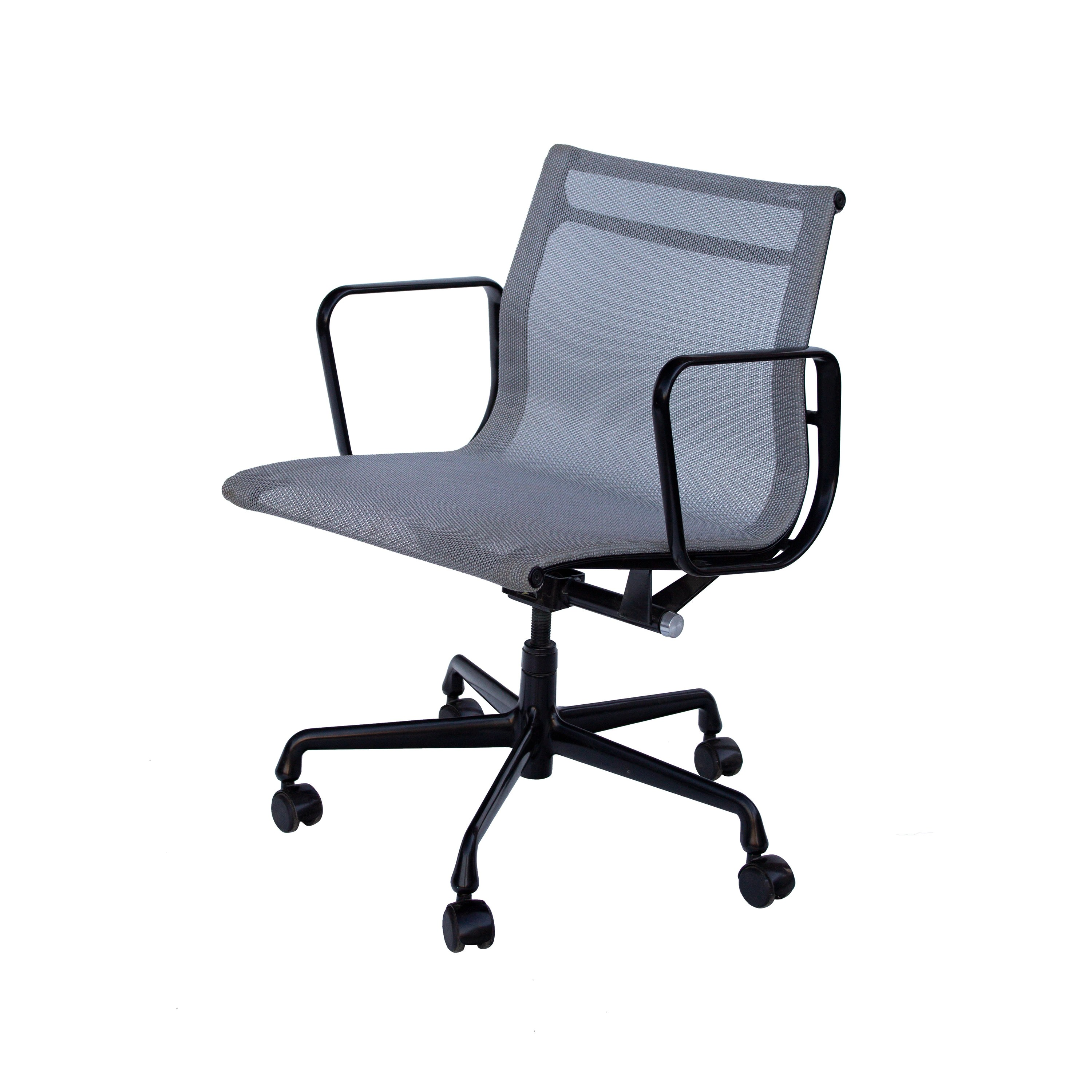 Eames Chair Base Herman Miller Eames Aluminum Group Mesh Task Chair Black Base Office