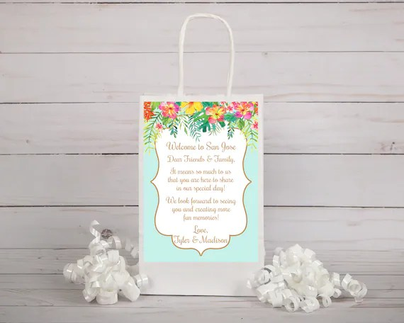Wedding Welcome Letter, Wedding Welcome Bag, Wedding Welcome Card