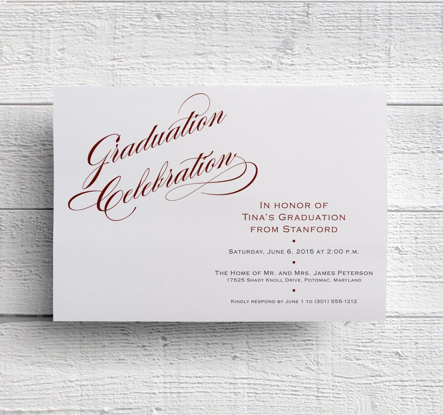 Graduation Invitation Graduation Announcement College Etsy