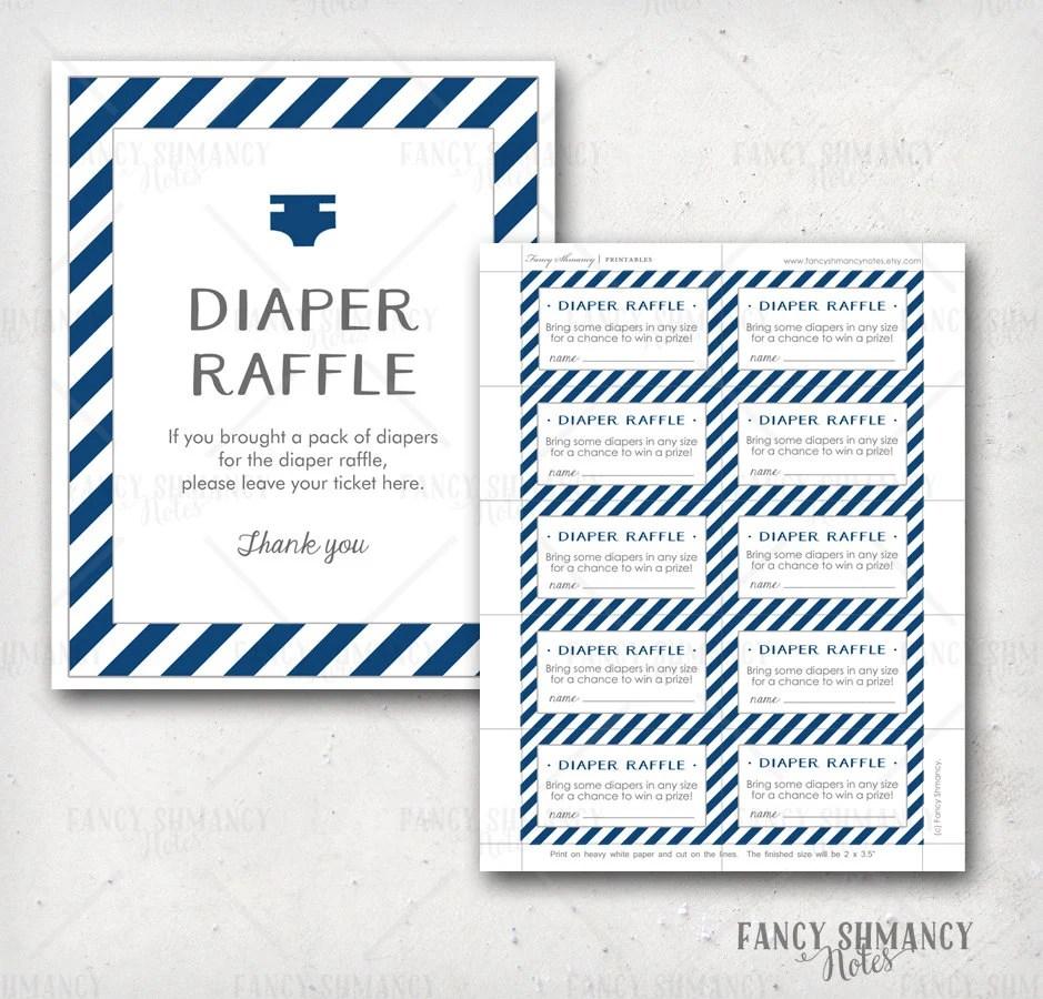 Diaper Raffle Ticket / Printable Raffle Ticket and display sign