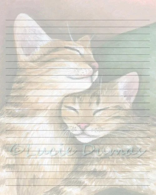 Digital Printable Journal writing lined Page Cat 603 Etsy
