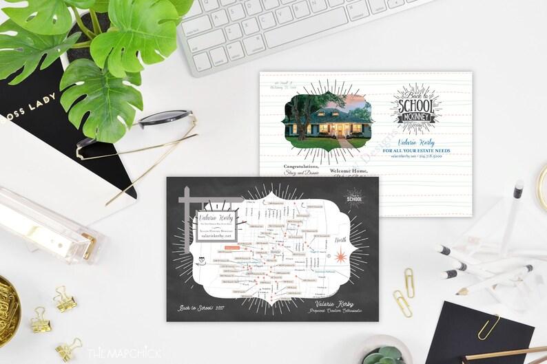 Custom Real Estate Map Property Listing for Flyer or Postcard Etsy