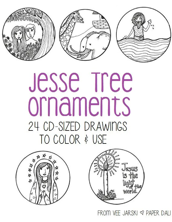 Jesse Tree Ornaments for Advent Etsy