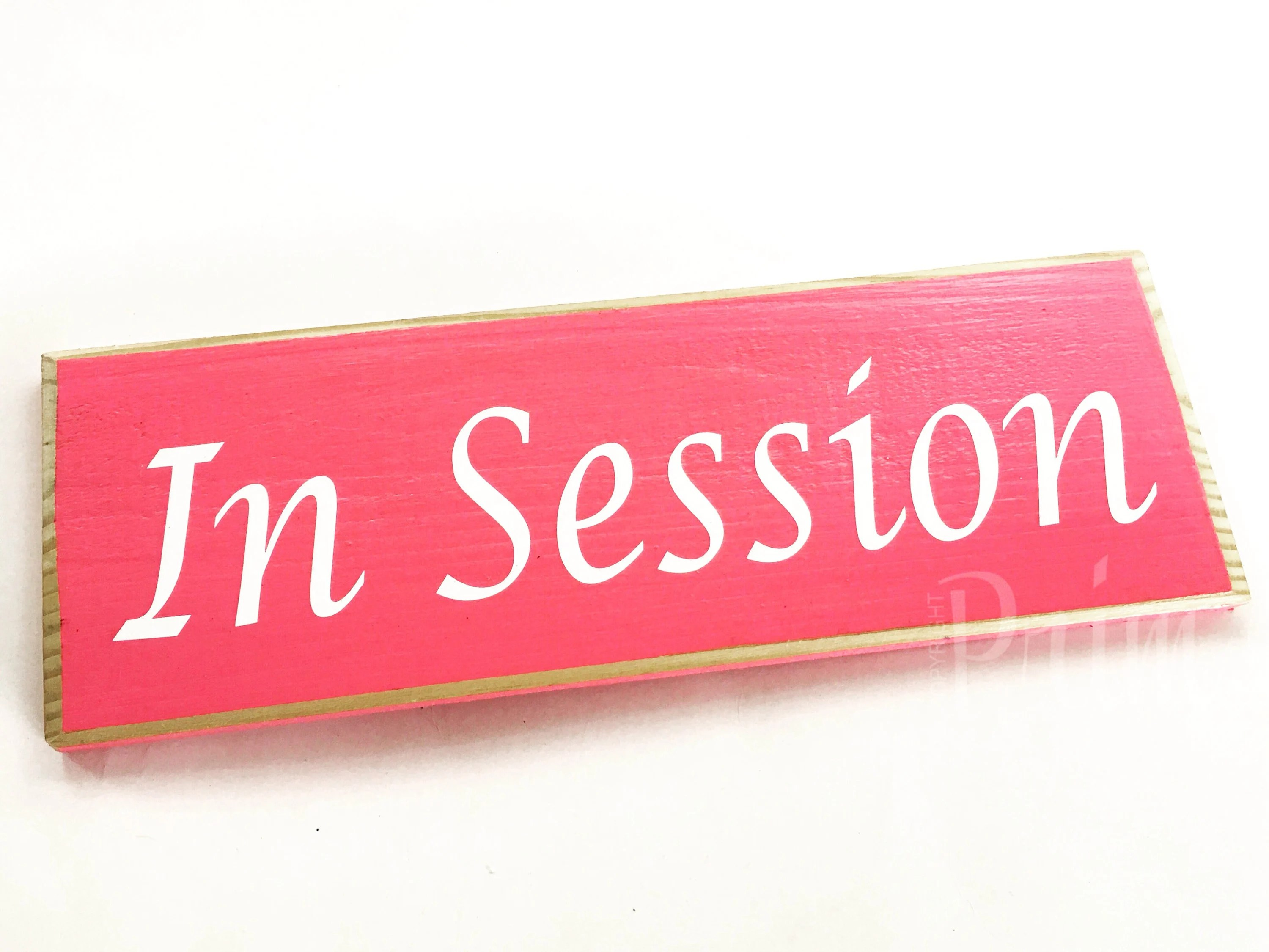 12x4 In Session Custom Wood Sign In Progress Meeting Spa Etsy