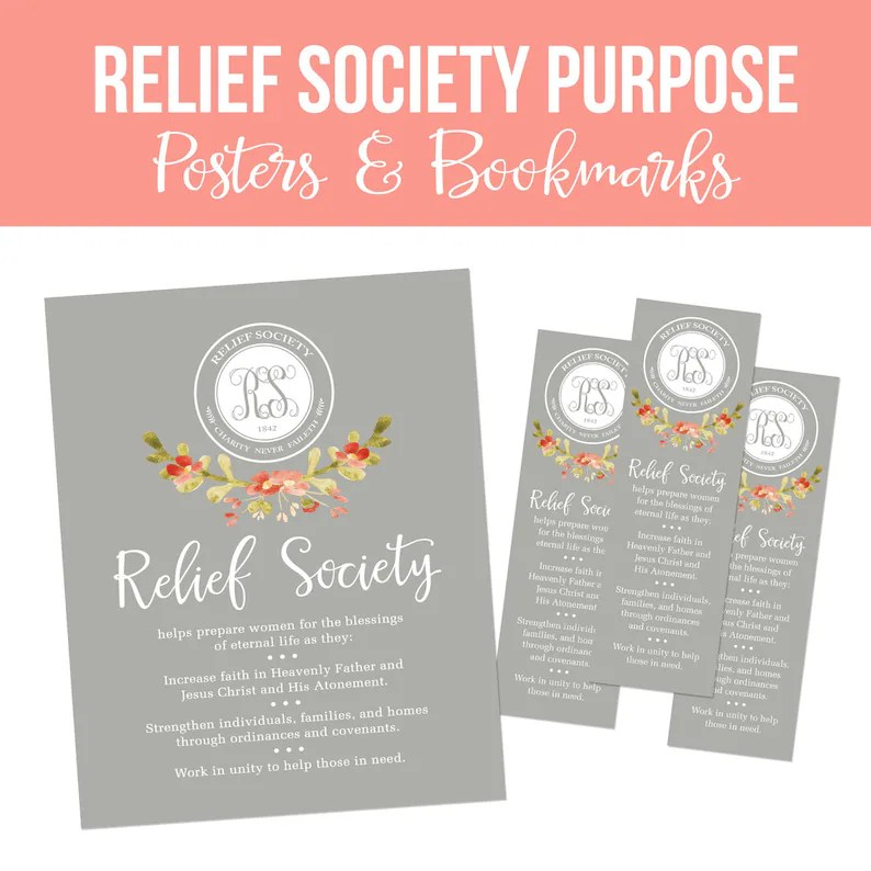LDS Relief Society Printable Set-Relief Society Etsy