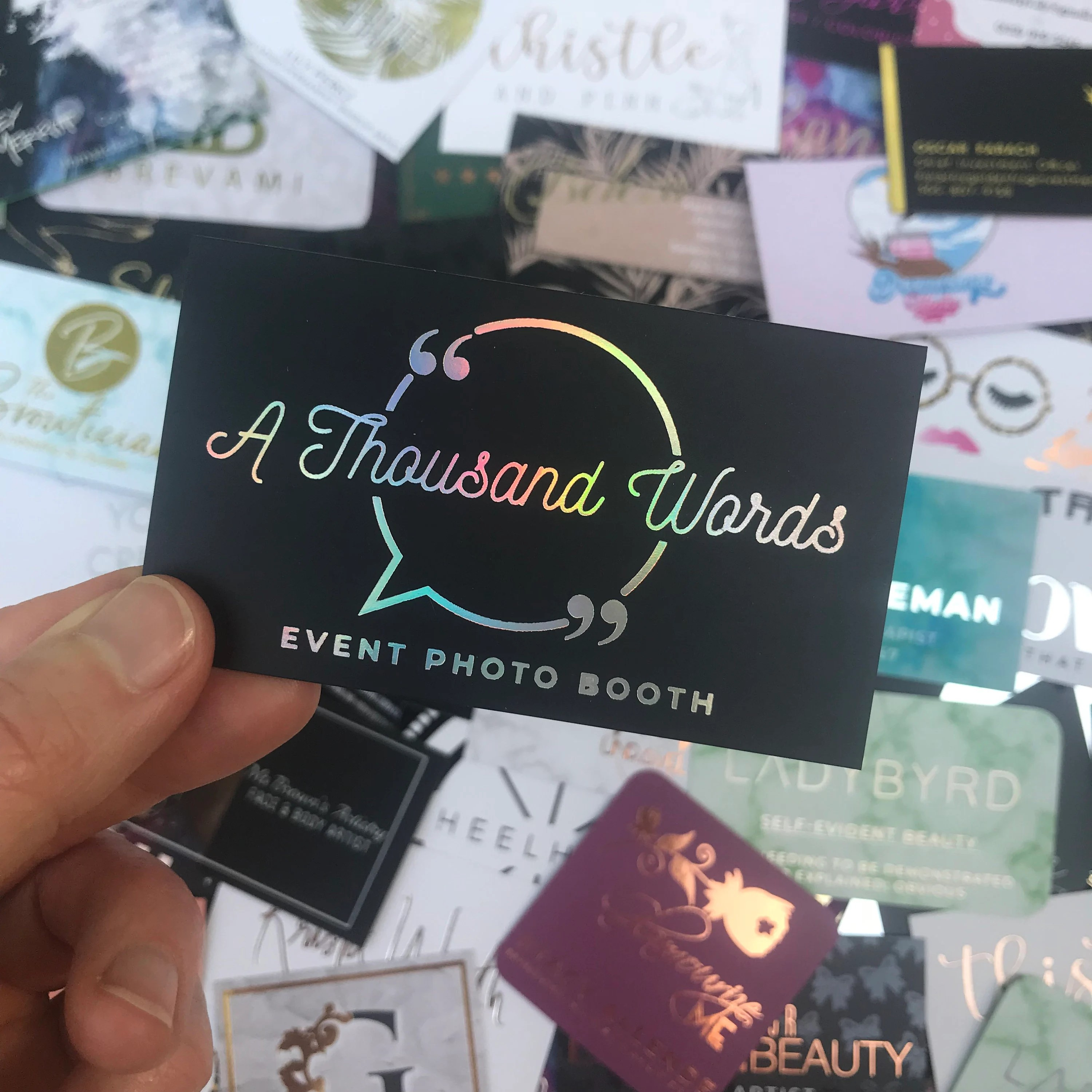 Business Cards for A Thousand Words in Washington DC Etsy