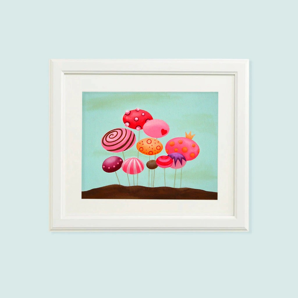 Nursery Prints Girl Mushroom Baby Girl Nursery Prints Girl Nursery Decor Girl Nursery Art Baby Girl Prints Art For Girls Room Baby Art Prints Girl Art
