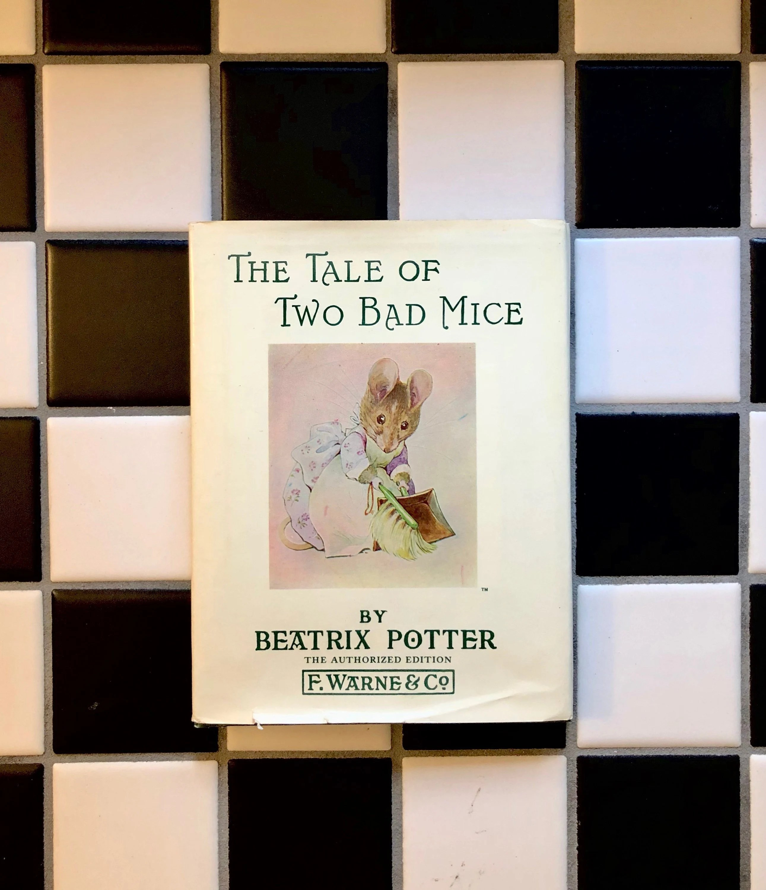 Vintage Bad Copy Vintage Beatrix Potter The Tale Of Two Bad Mice 1932 With Dust Jacket Gently Used F Warne Co Printed Bound By Rose Printing Lovely
