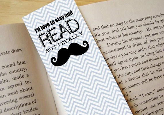 MUSTACHE Printable Bookmark Instant Download Etsy