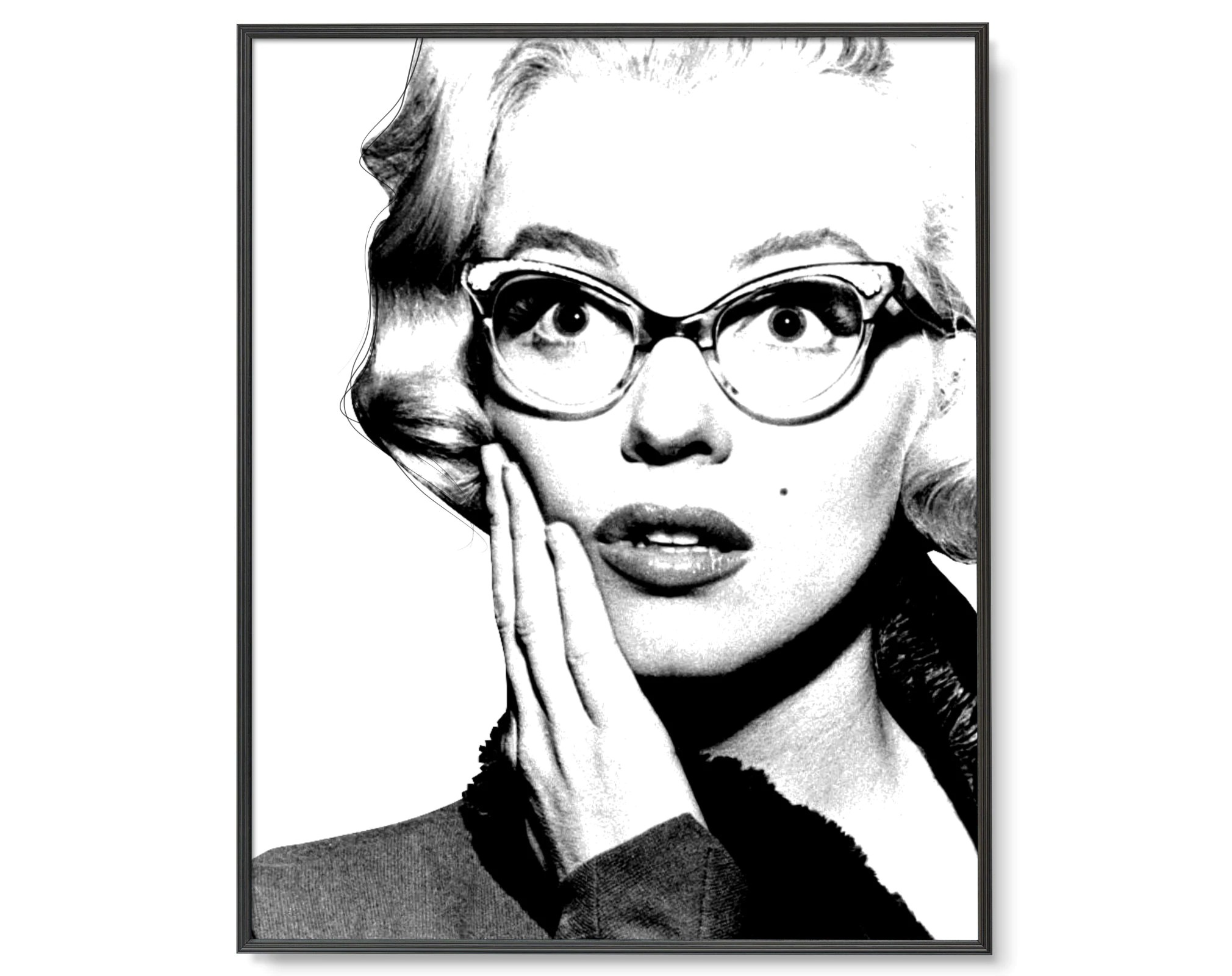 Marilyn Monroe Poster Marilyn Monroe Art Printed Shipped Marilyn Monroe Poster Marilyn Wall Art Marilyn Monroe Wall Art Marilyn Monroe Glasses Hollywood