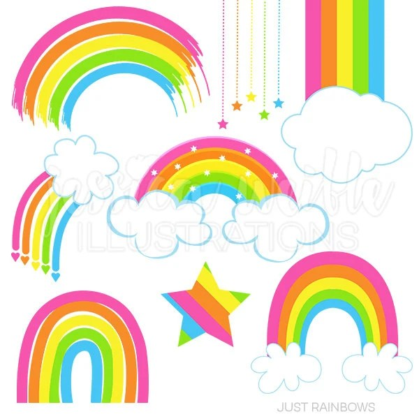 Creation Keramik Kaufen Just Rainbows Cute Digital Clipart | Etsy