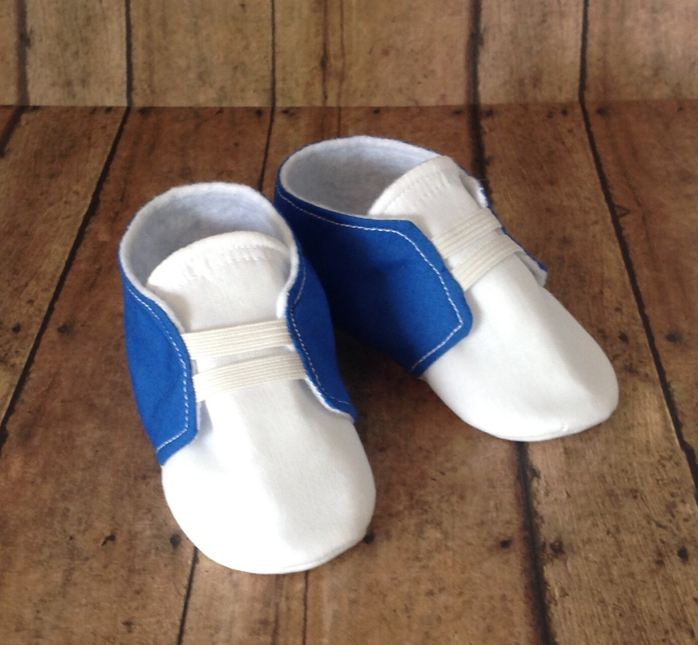 Newborn Elastic Shoes Blue White Baby Shoes With Elastic Newborn Size Up To 18 Months