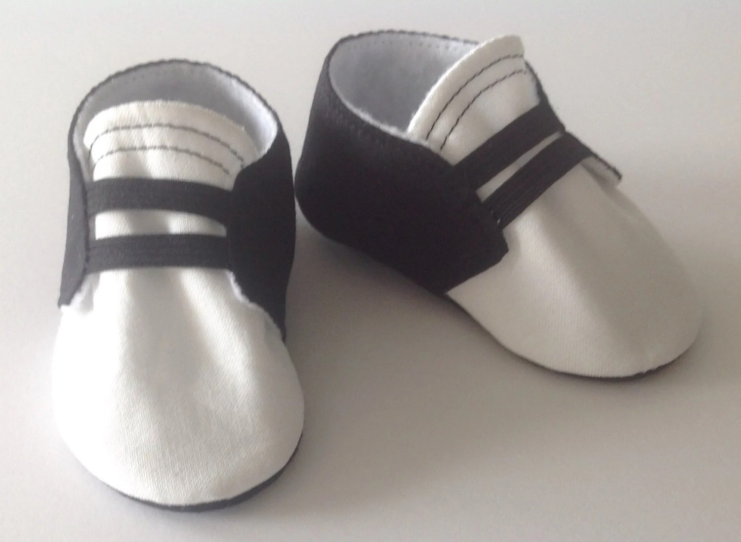 Newborn Elastic Shoes Black White Baby Shoes With Elastic Newborn Size Up To 18 Months