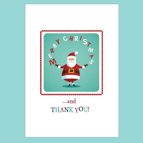 Navidad gracias Nota tarjeta conjunto agradecimientos de Etsy