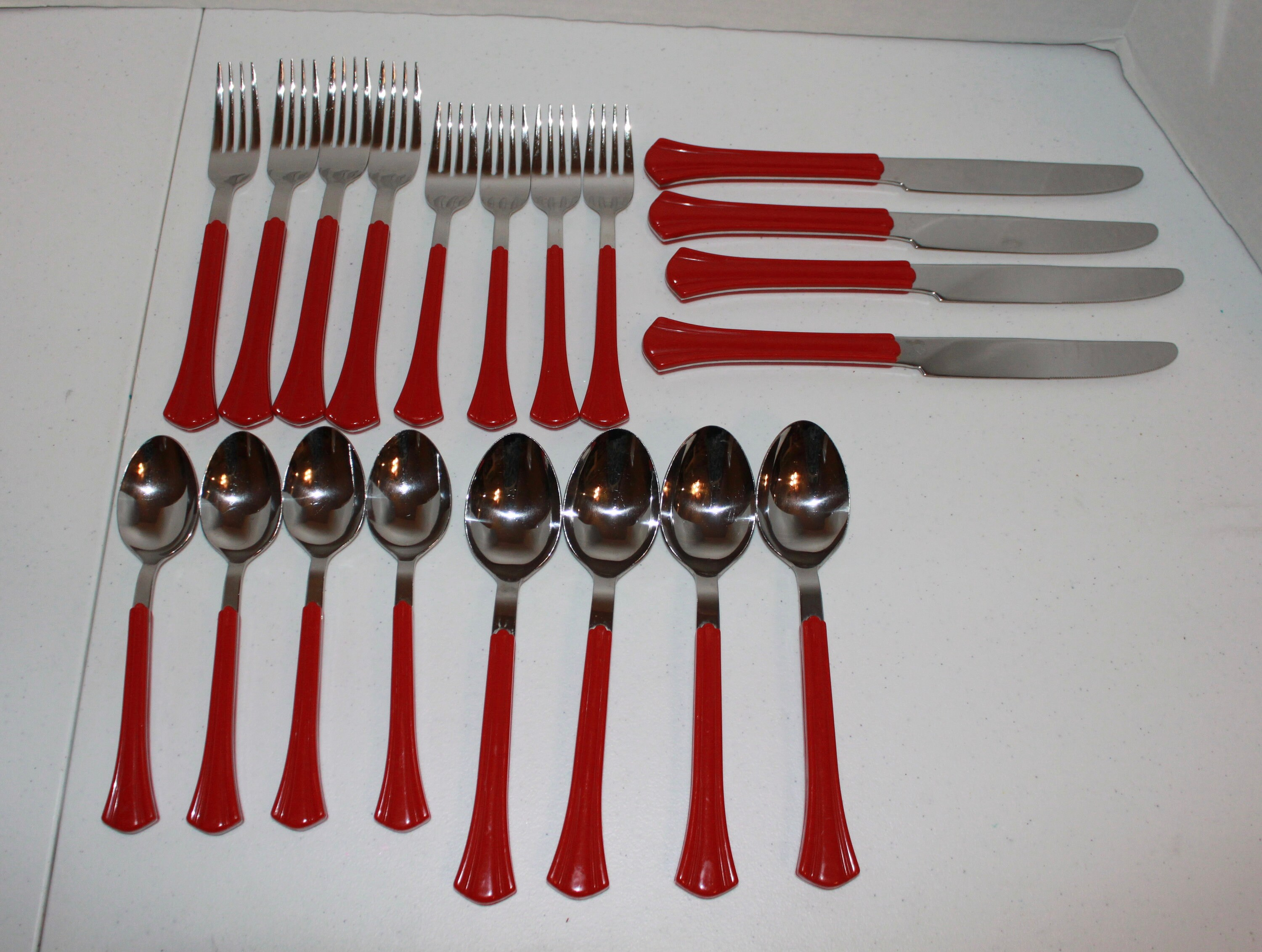 Red Handle Flatware 20 Pieces Northland Oneida Red Luminaire Flatware Flare Handle Service 4 Japan