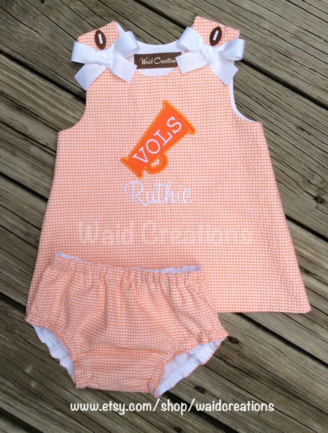 Baby Shop Auburn Vols Auburn Alabama Collegiate Inspired Girl S Dress With Bloomers