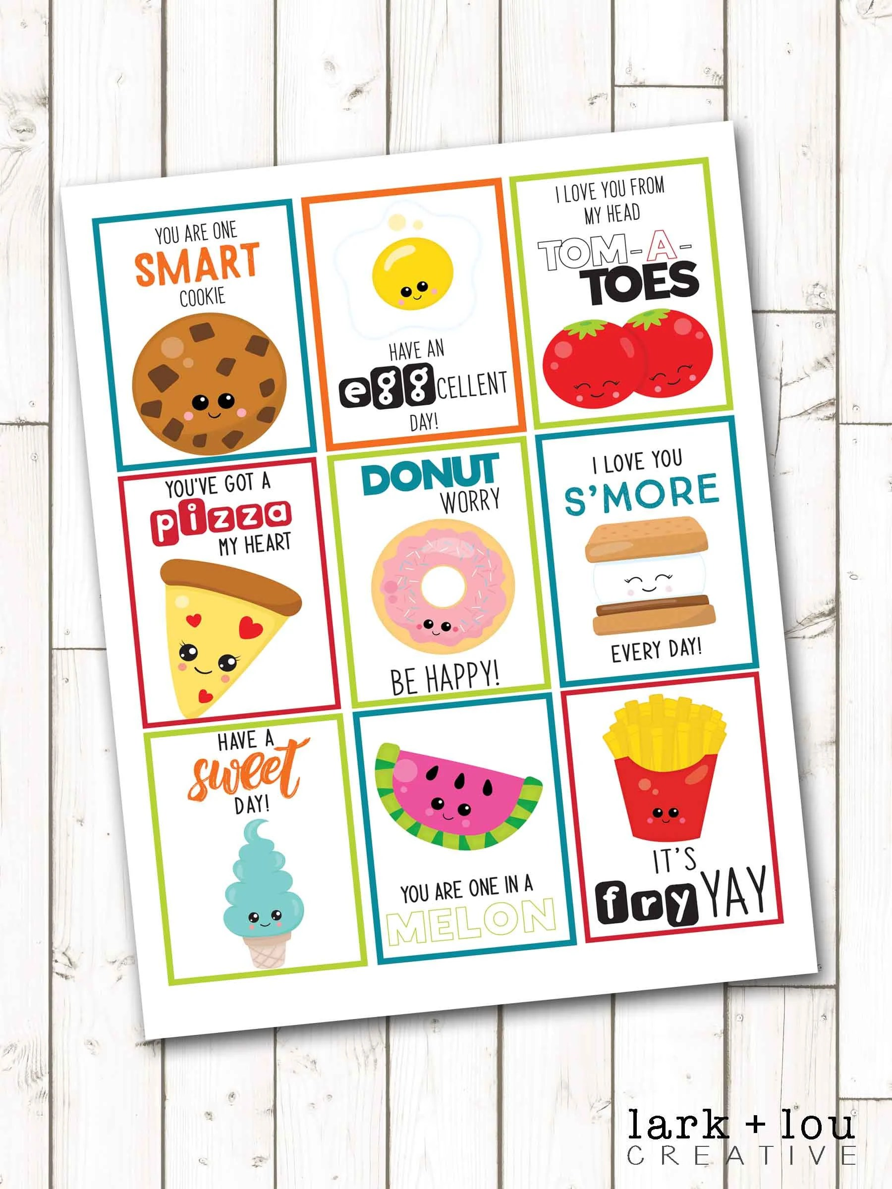 Printable lunchbox notes for kids 9 designs instant Etsy