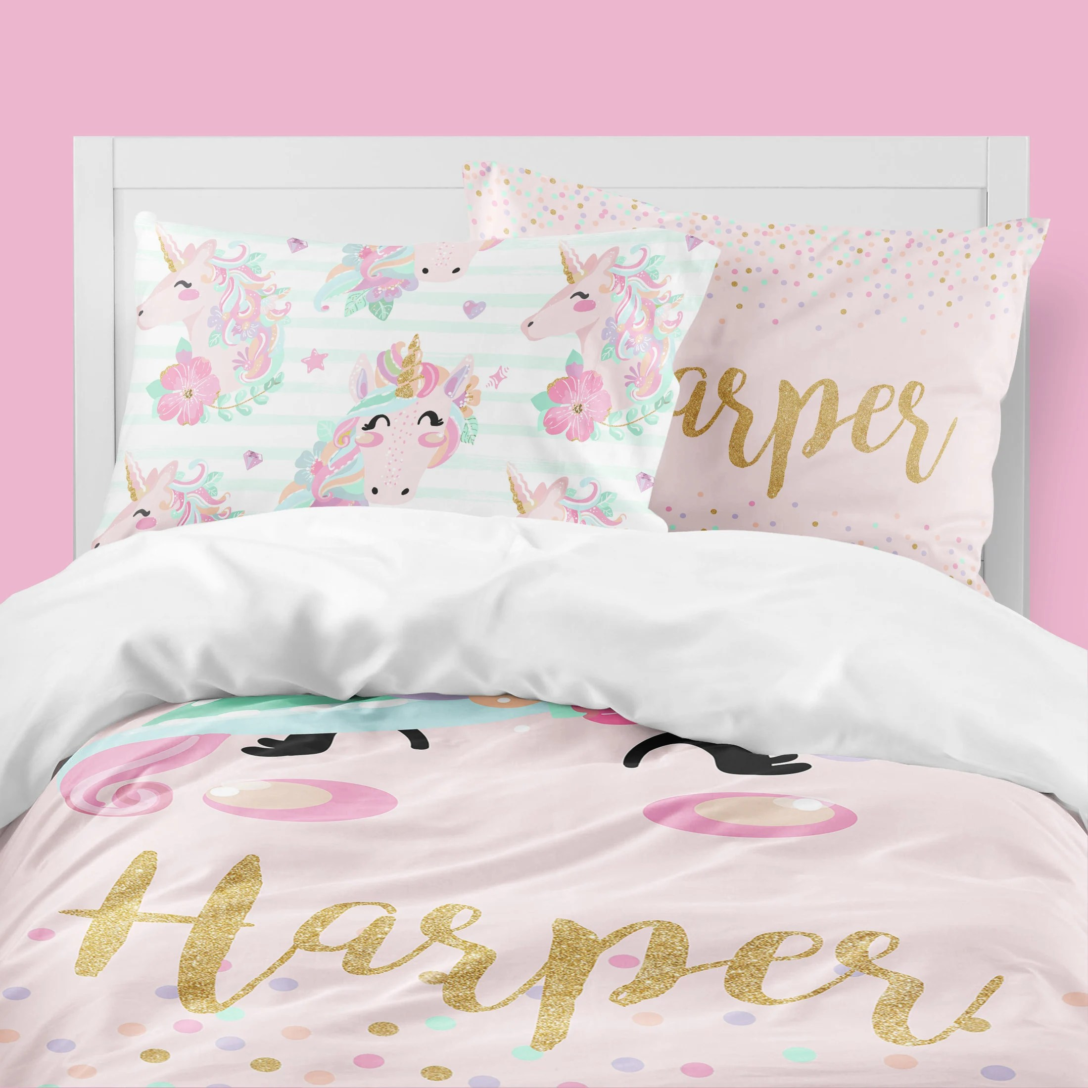 Girls Bedding Unicorn Girls Room Unicorn Girls Bedding Twin Duvet Covers