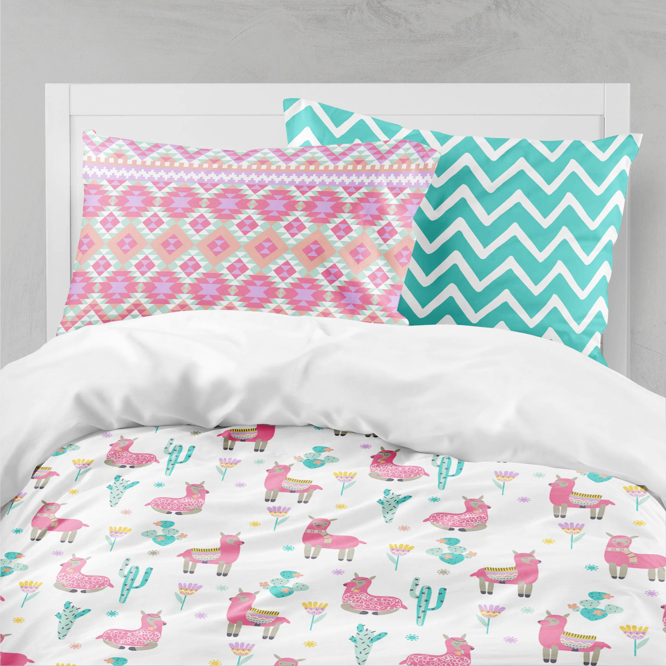 Pink Duvet Cover Llama Girls Room Pink Girls Bedding Toddler Duvet Covers Toddler Comforter Girl Twin Duvet Cover Bedding Sets Kids Teen Bedding