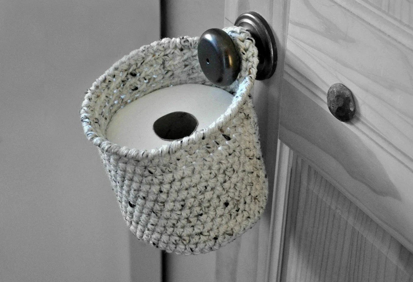 Space Saving Toilet Paper Holder Toilet Paper Holder Space Saver Door Knob Spare Roll Basket