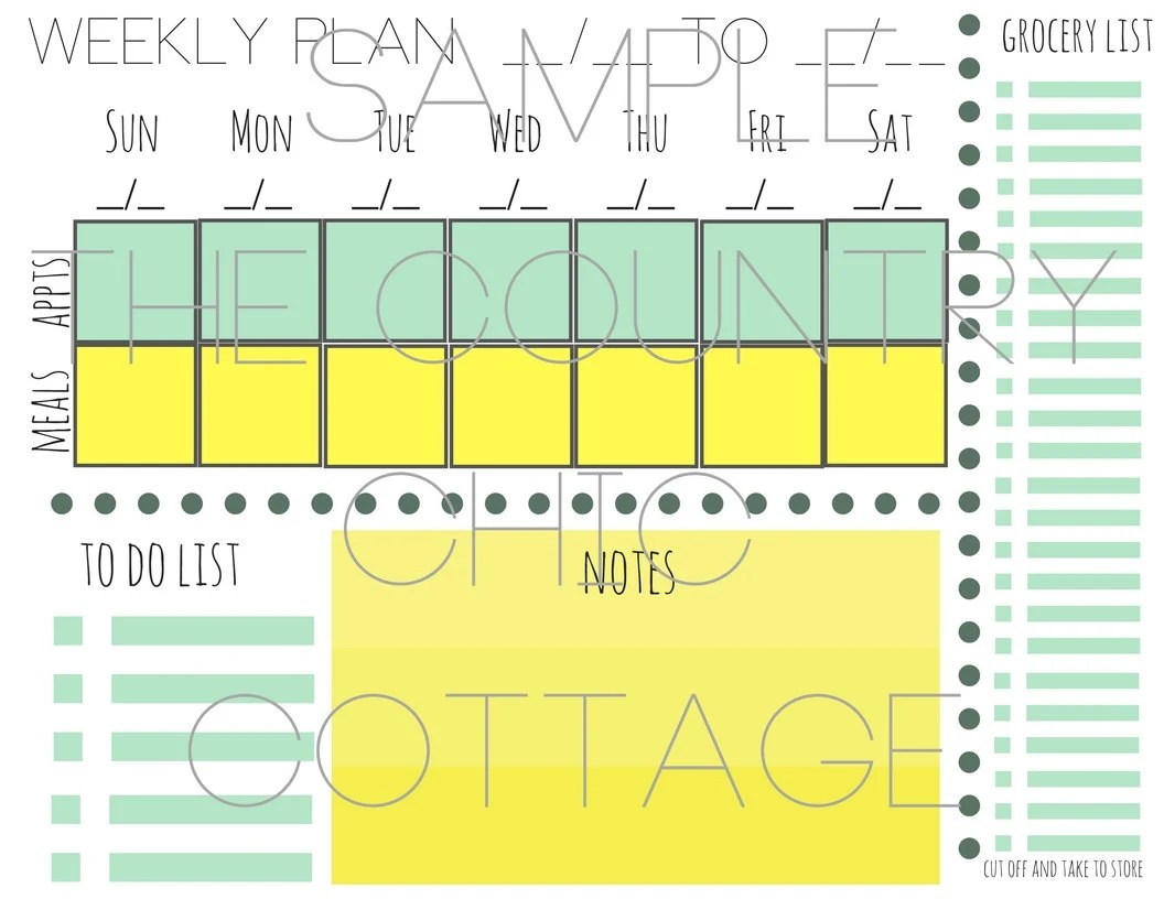 Week at a Glance Family Command Center Etsy