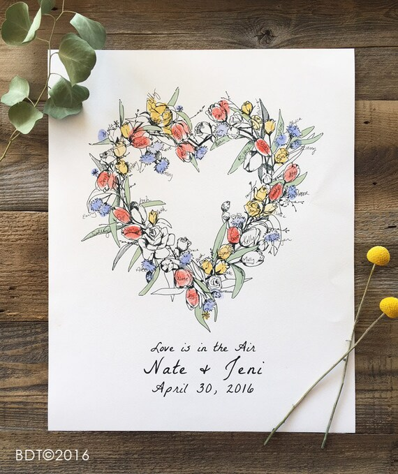 ON SALE Fingerprint Guest Book Wedding Guest Book Etsy