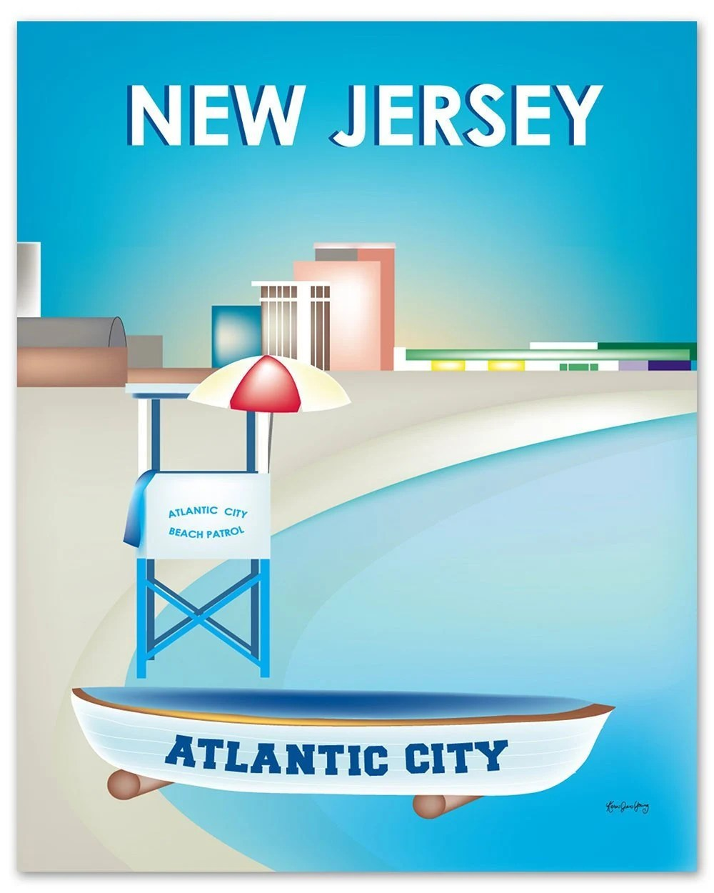 Atlantic Keuken Atlantic City Nj Artwork New Jersey Print Atlantic City Print New Jersey Wall Art New Jersey Boardwalk Nj Beach Art Style E8 O Newj