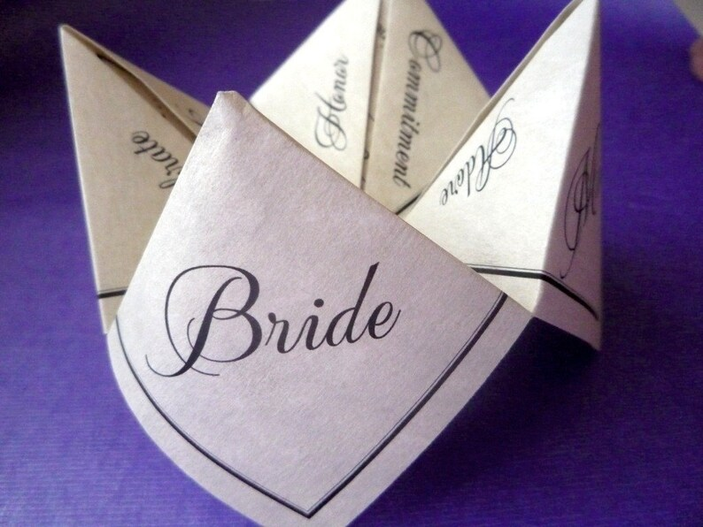 Fortune Teller Cootie Catcher Favor PDF PreDesigned Etsy