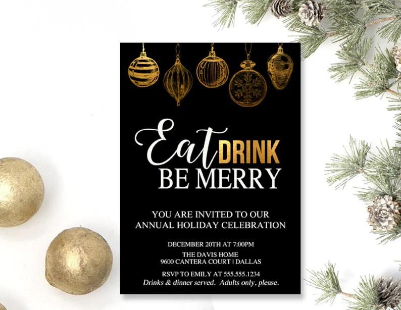Christmas Holiday Tree Trimming Party Invitations Company Etsy