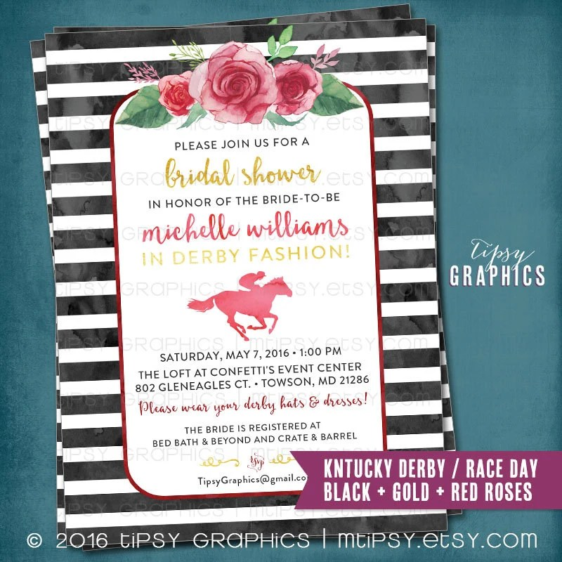 Kentucky Derby Race Day Party Invitation Bridal Shower